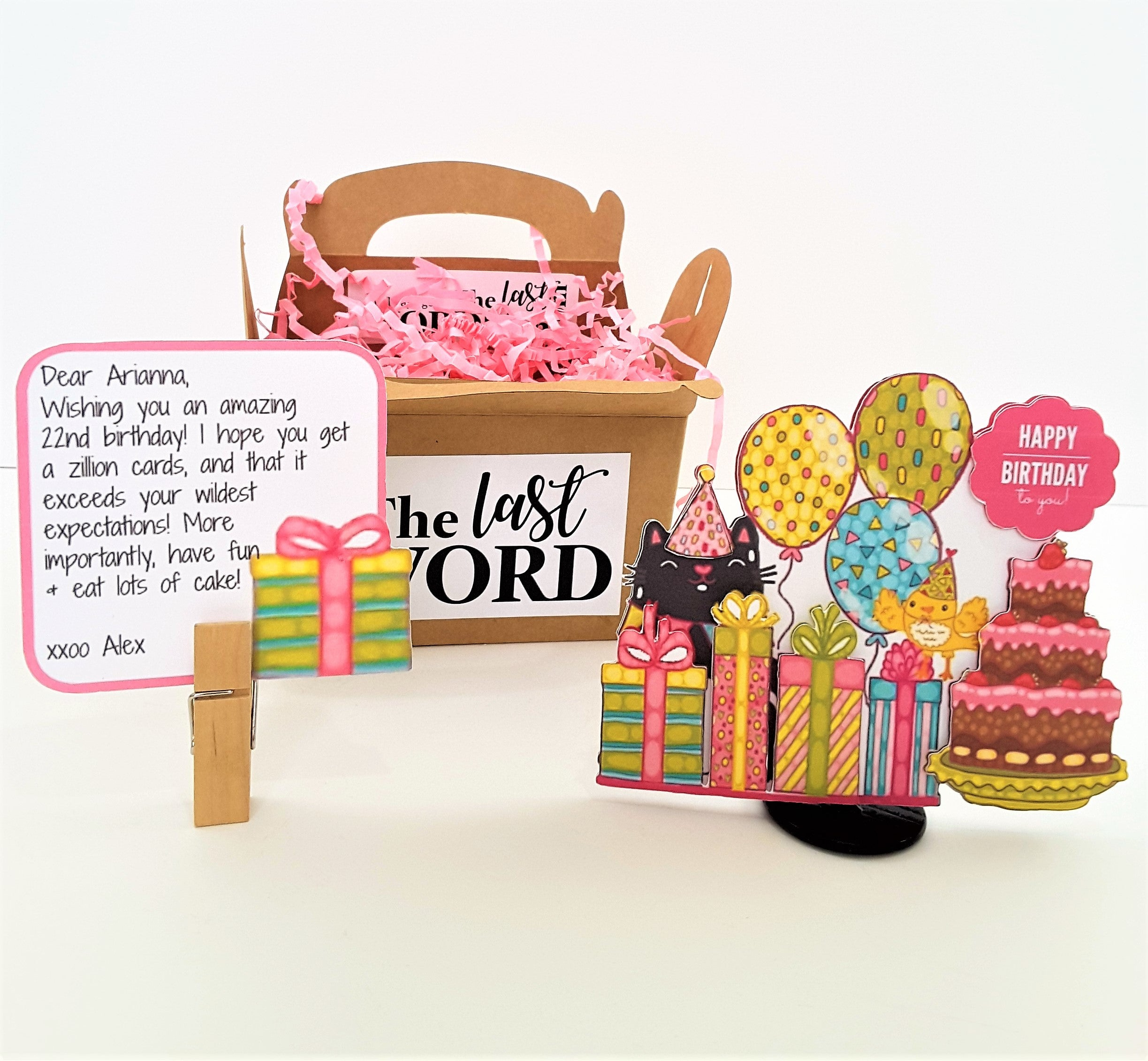 Birthday Party Personalized 3D Card - TheLastWordBish.com