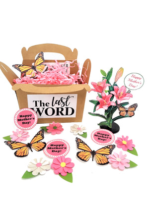 3D Mother's Day Card with Floral Bouquet & confetti