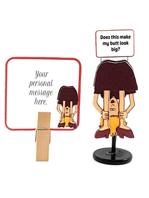 "Funny ""Does This Make My Butt Look Big?"" 3D Lady Message in a Bottle - 4 Versions"