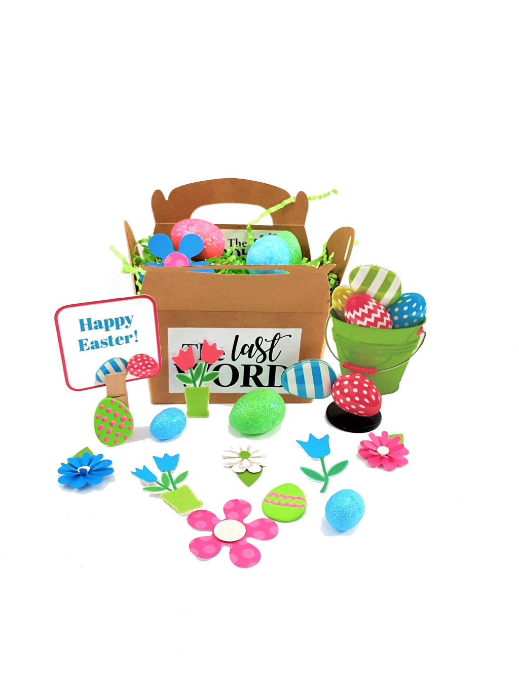 3D Easter card with Bucket of Eggs - includes candy & other goodies - TheLastWordBish.com