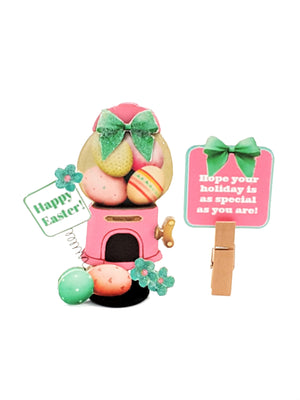3D Easter Card with Easter Egg Dispenser - includes candy & other goodies - TheLastWordBish.com