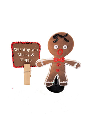 Christmas Gingerbread Boy Stand Up Greeting Card Gift - includes goodies - TheLastWordBish.com