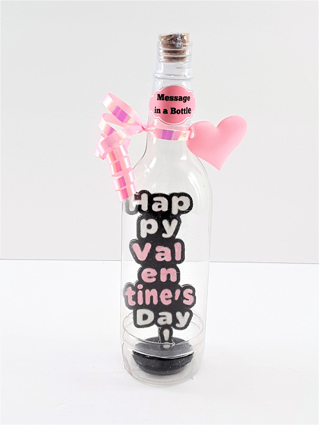 VALENTINE'S DAY 3D GREETING CARD  - MESSAGE IN A BOTTLE - HAPPY VALENTINE'S DAY
