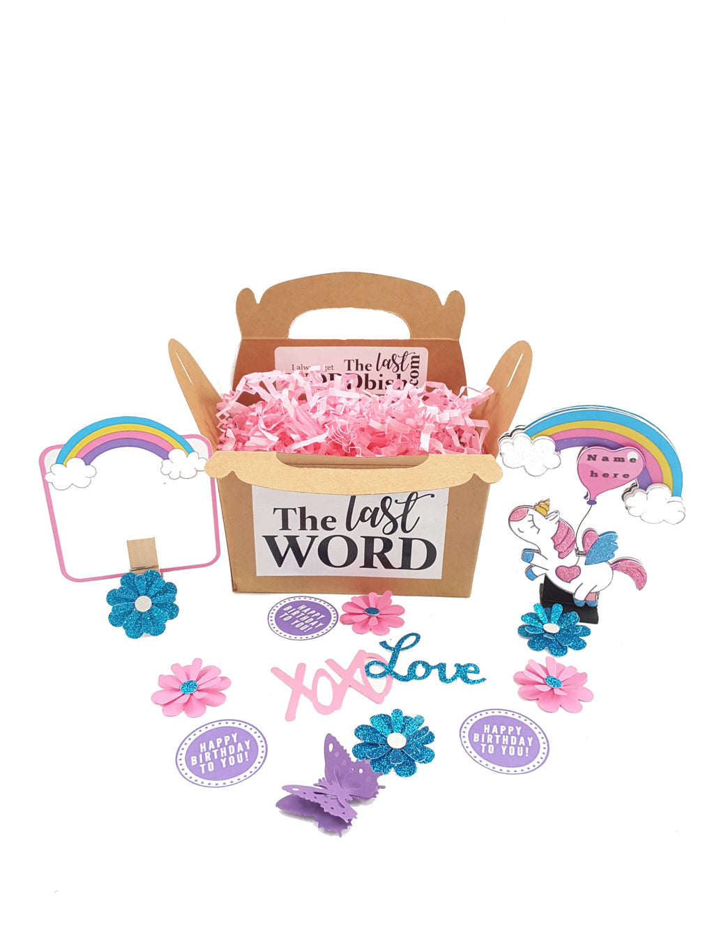 Personalized Stand-up Unicorn Birthday or All Occasion Card - The Last Word Bish