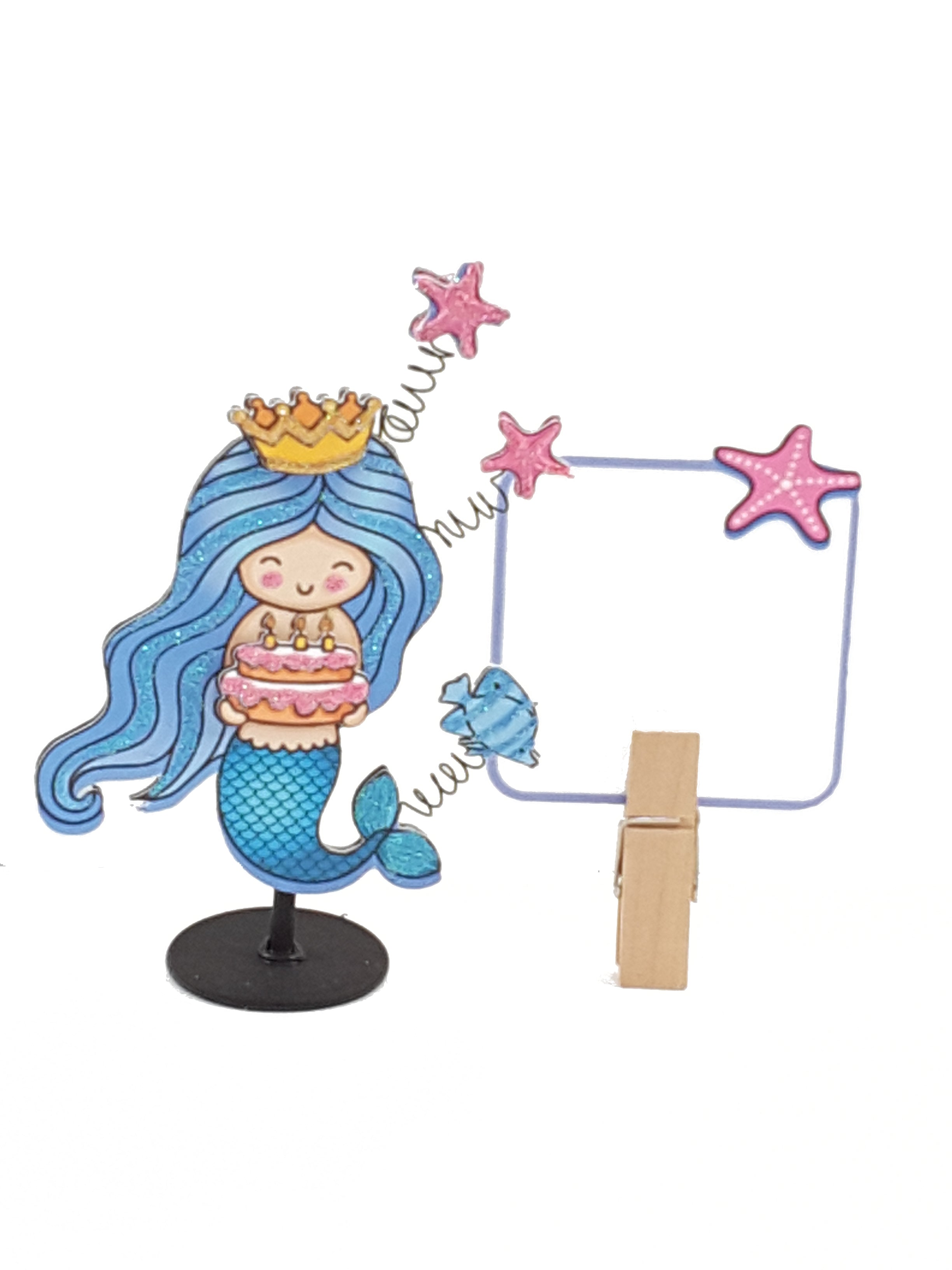 Personalized 3D Birthday mermaid card