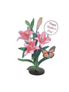 Flower Bouquet Personalized 3D Mother's Day Card - TheLastWordBish.com