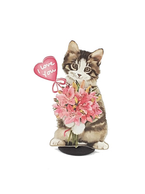 Watercolor Kitty Personalized 3D All-Occasion Card