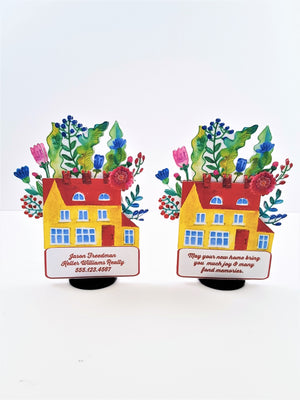 Floral Home Sweet Home Personalized 3D Card - TheLastWordBish.com