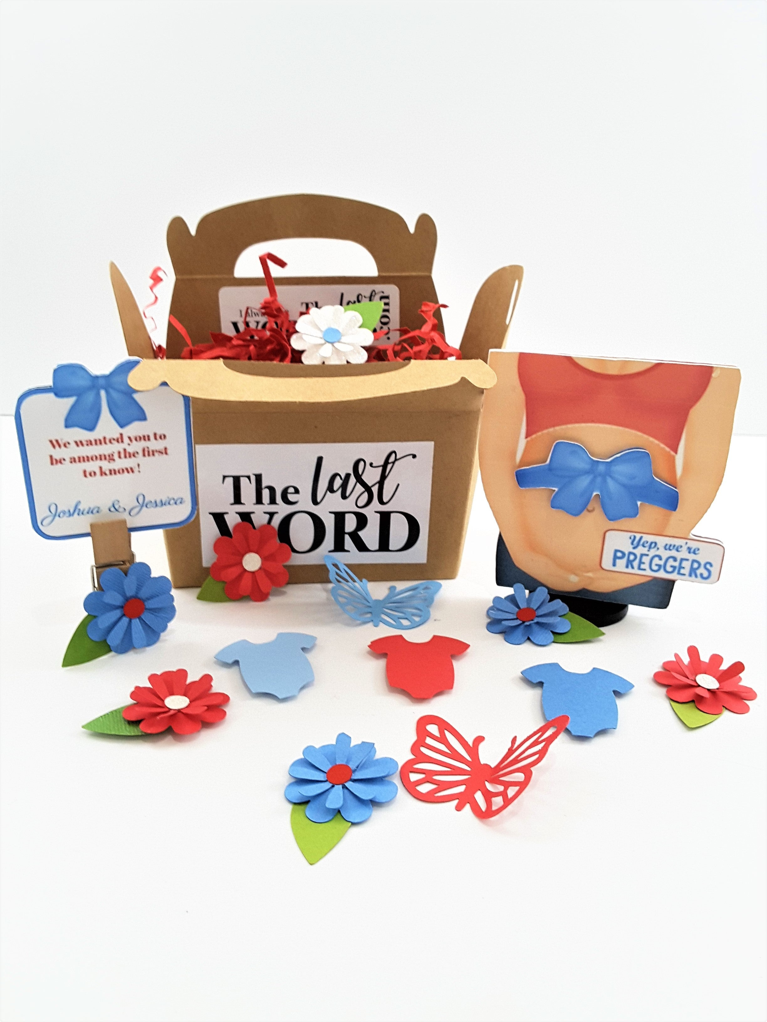 Pregnancy Announcement Personalized 3D Greeting Card - TheLastWordBish.com