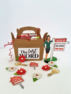 Realtor with Your face Custom 3D All-occasion card - The Last Word Bish