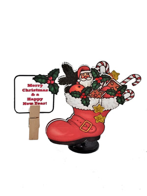 3D SANTA BOOT CHRISTMAS GREETING CARD