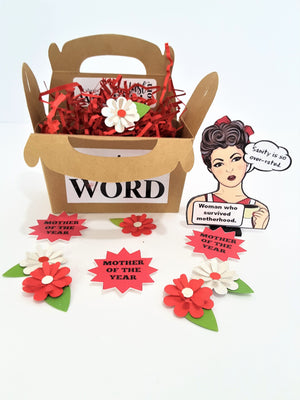 Funny Happy Mother's Day Personalized 3D Card - Sanity Is Overrated - Version #1 - TheLastWordBish.com