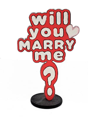 Will You Marry Me? 3D Marriage Proposal Card - The Last Word Bish