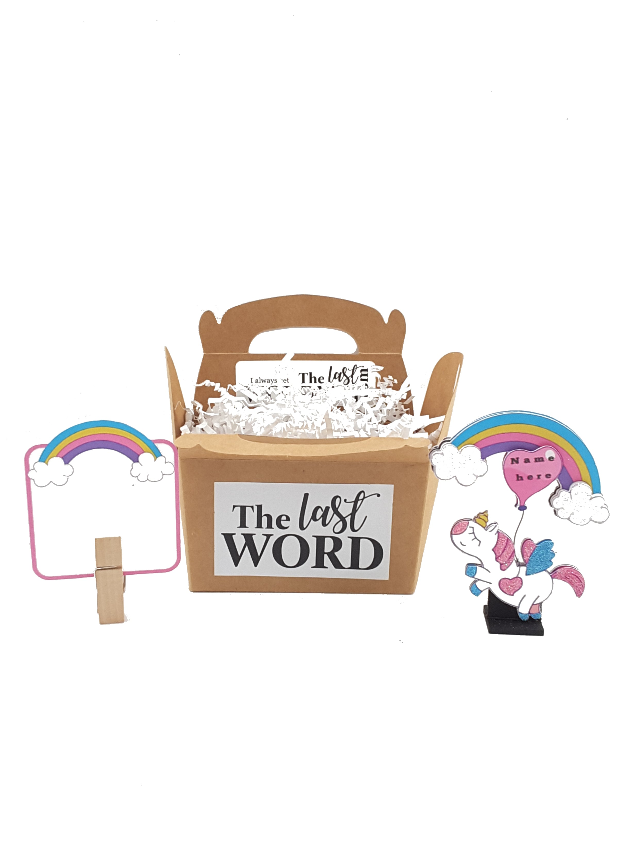 Personalized Stand-up Unicorn Birthday or All Occasion Card - TheLastWordBish.com