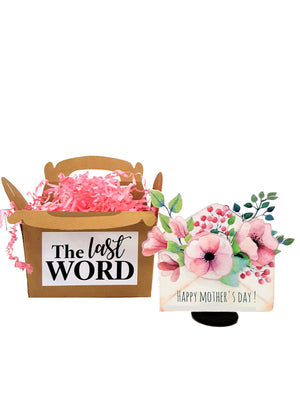 Personalized 3D Mother's Day Card with Envelope of Flowers - TheLastWordBish.com