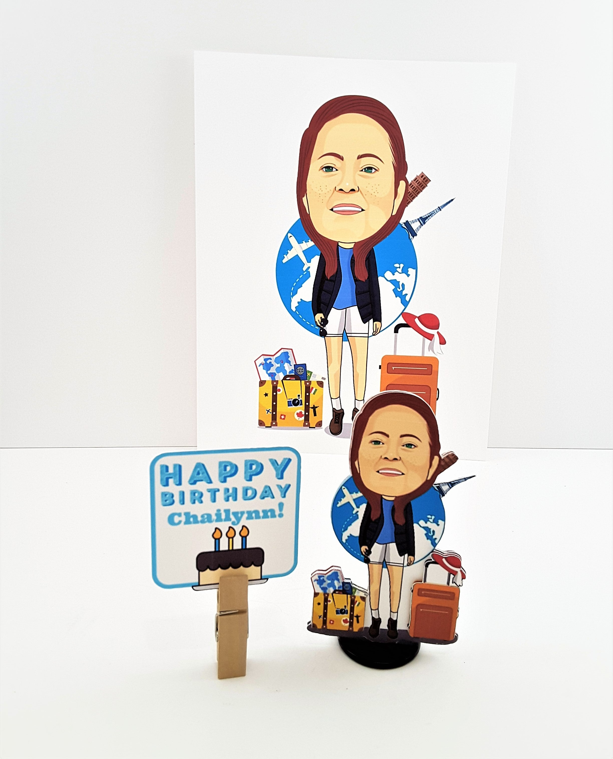 CARICATURE - CUSTOM 3D GREETING CARD GIFT