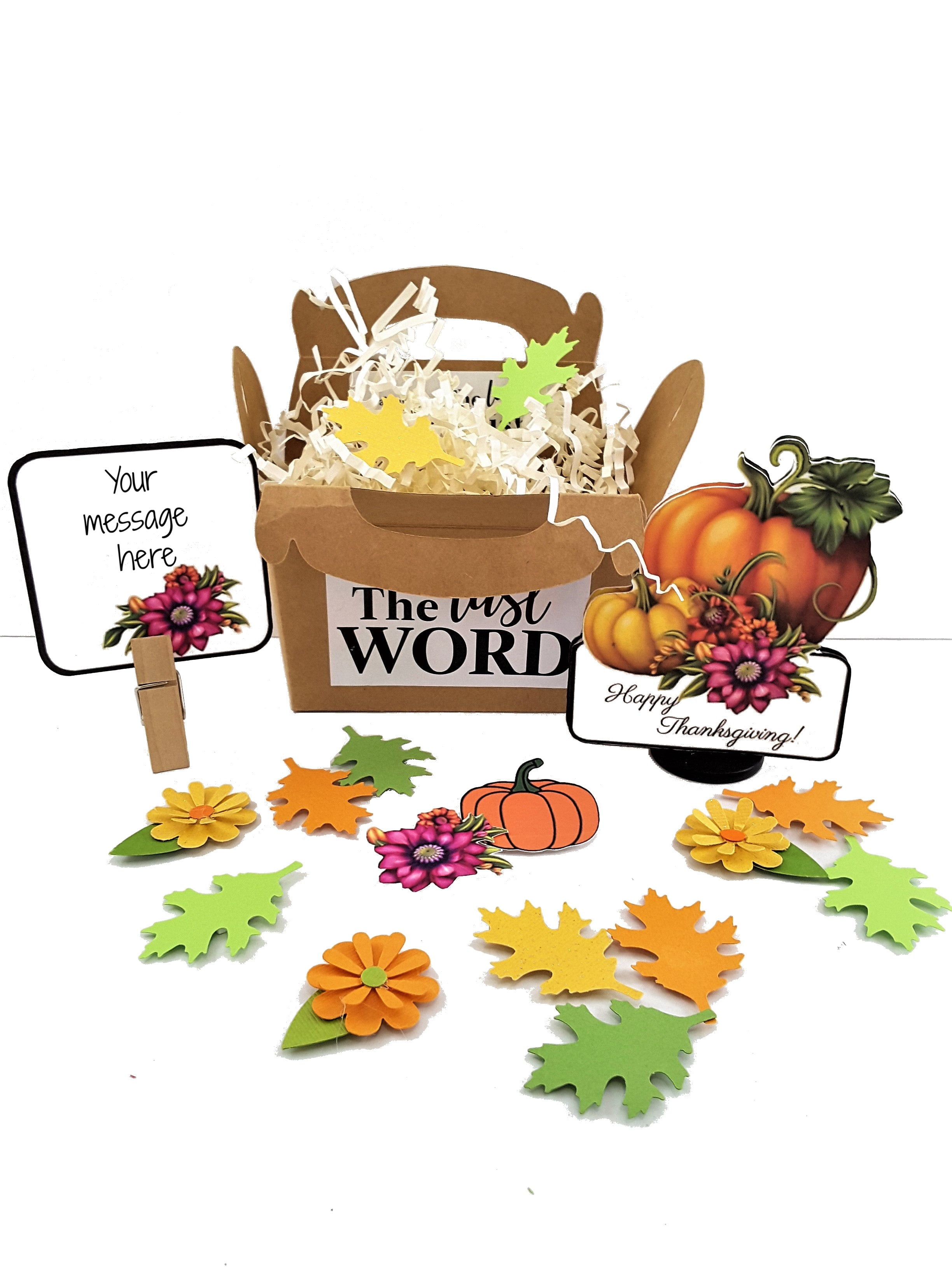 3D Thanksgiving greeting card gift