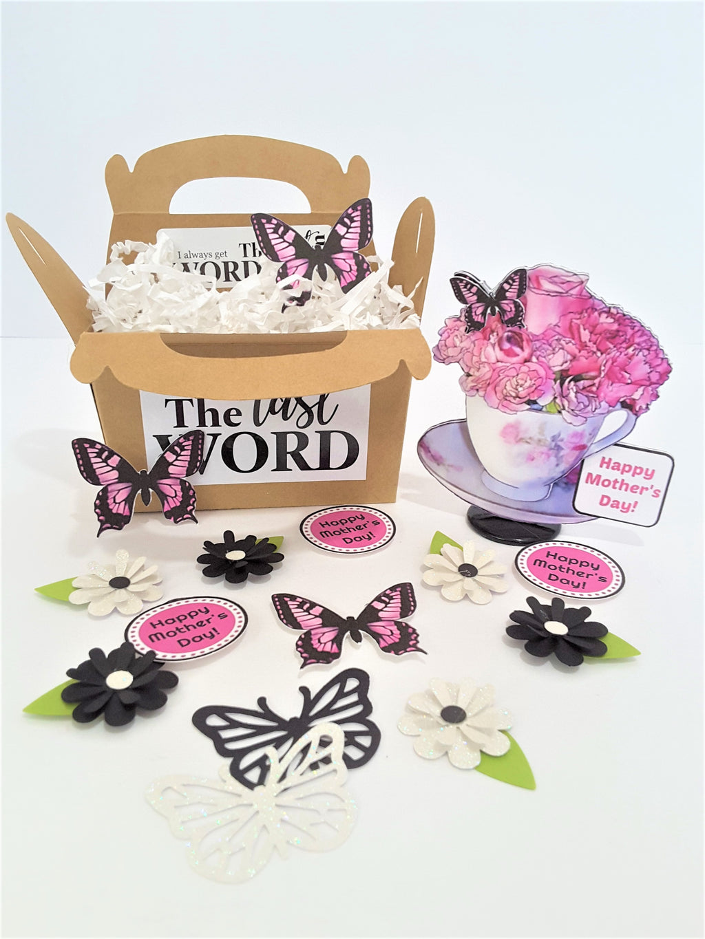 Roses in a Teacup Personalized 3D Happy Mother's Day Card - TheLastWordBish.com