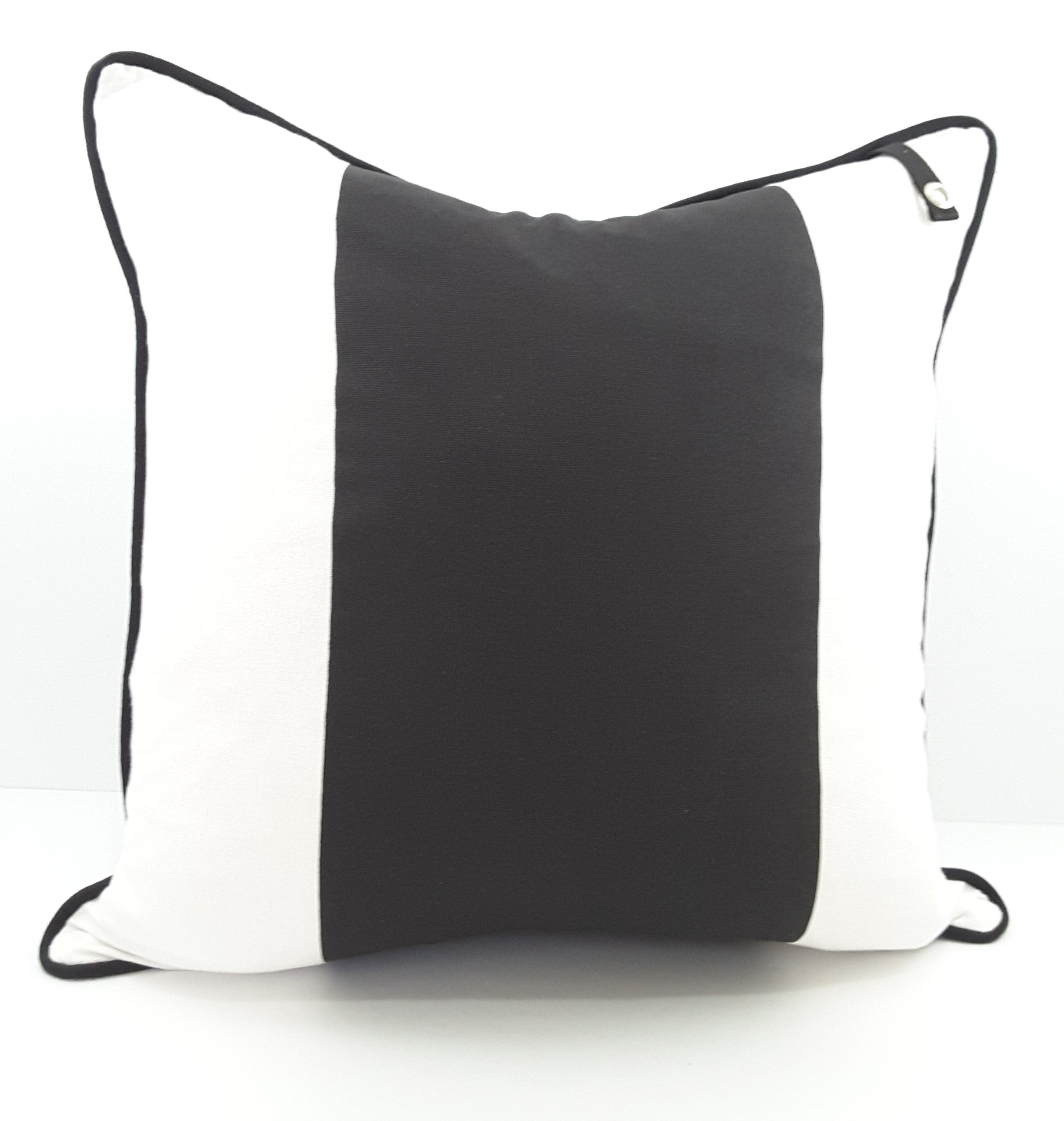 Striking Pillow Cover with Black & White Stripes