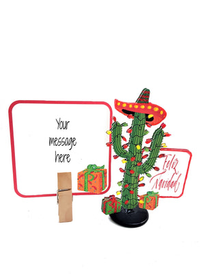 3D CHRISTMAS CACTUS GREETING CARD