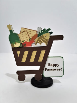 PASSOVER GROCERY SHOPPING CART 3D GREETING CARD GIFT