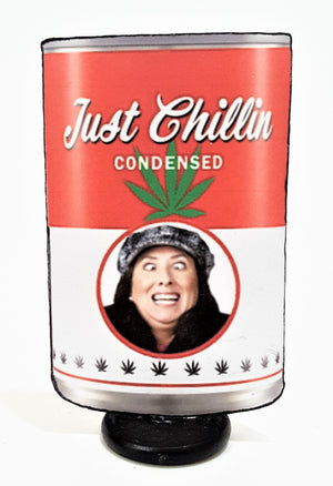 "Your Face or Theirs on a Can of ""Just Chillin"" Custom 3D All-Occasion Card"