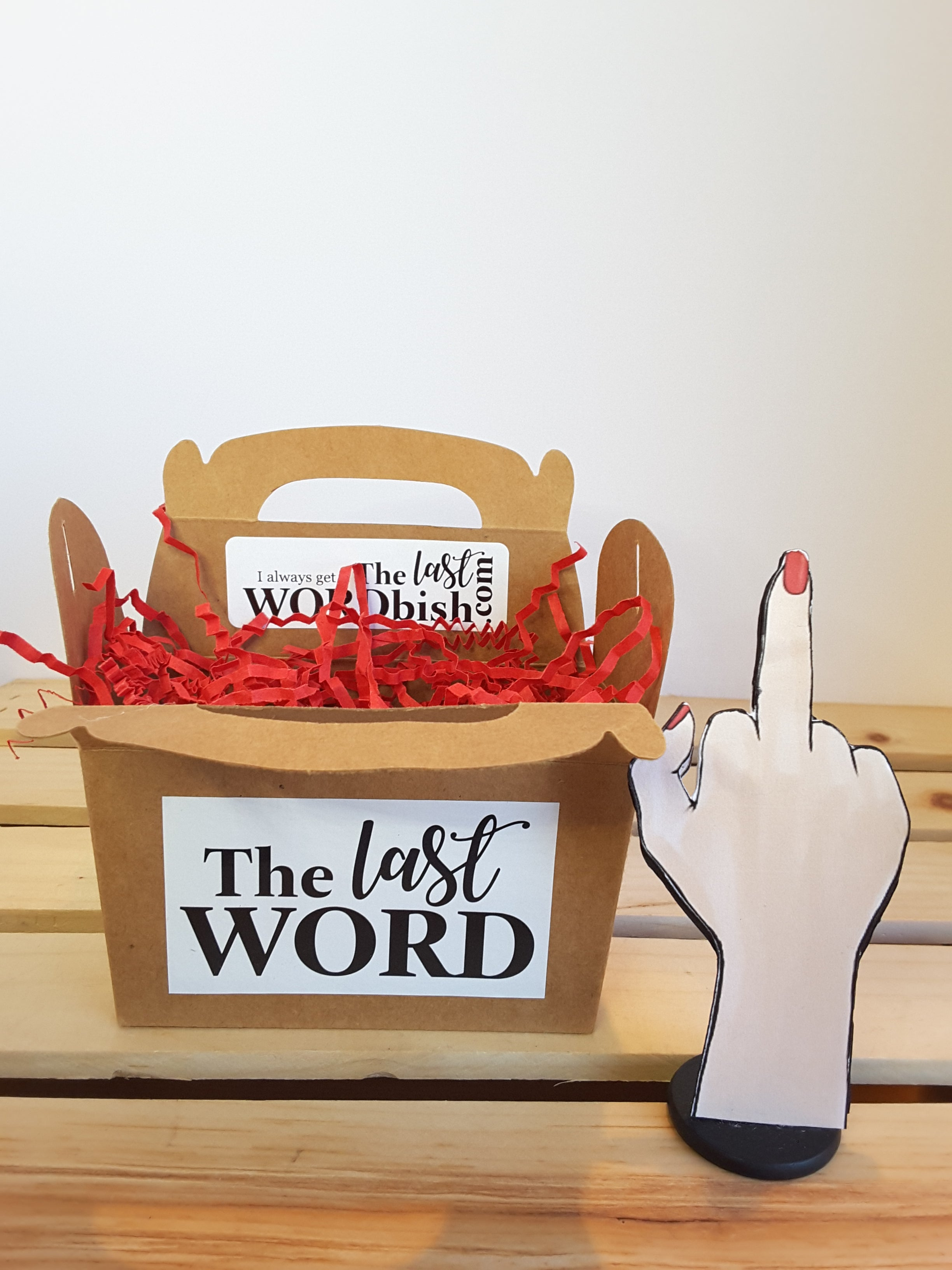 Middle Finger Salute Personalized 3D All-Occasion Card - TheLastWordBish.com