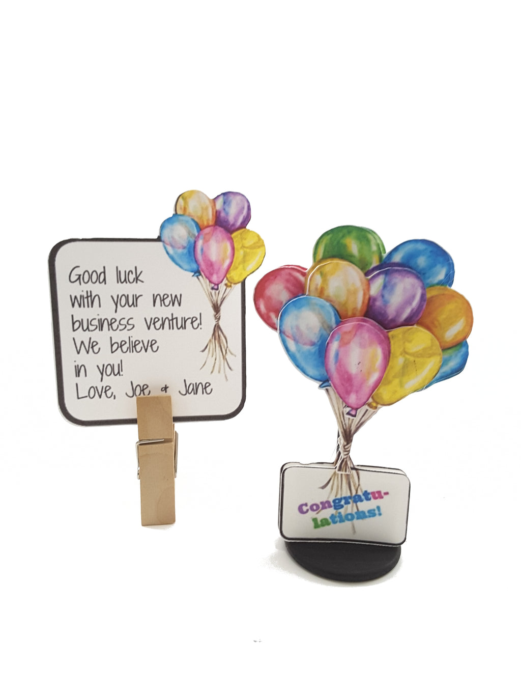 Personalized Stand Up Balloon Bouquet All Occasion Card - TheLastWordBish.com