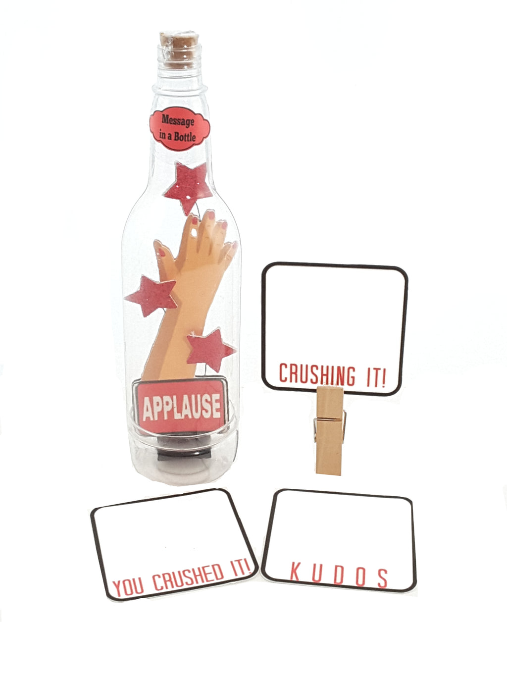 Personalized Message in a Bottle featuring Applause - Crushing it!