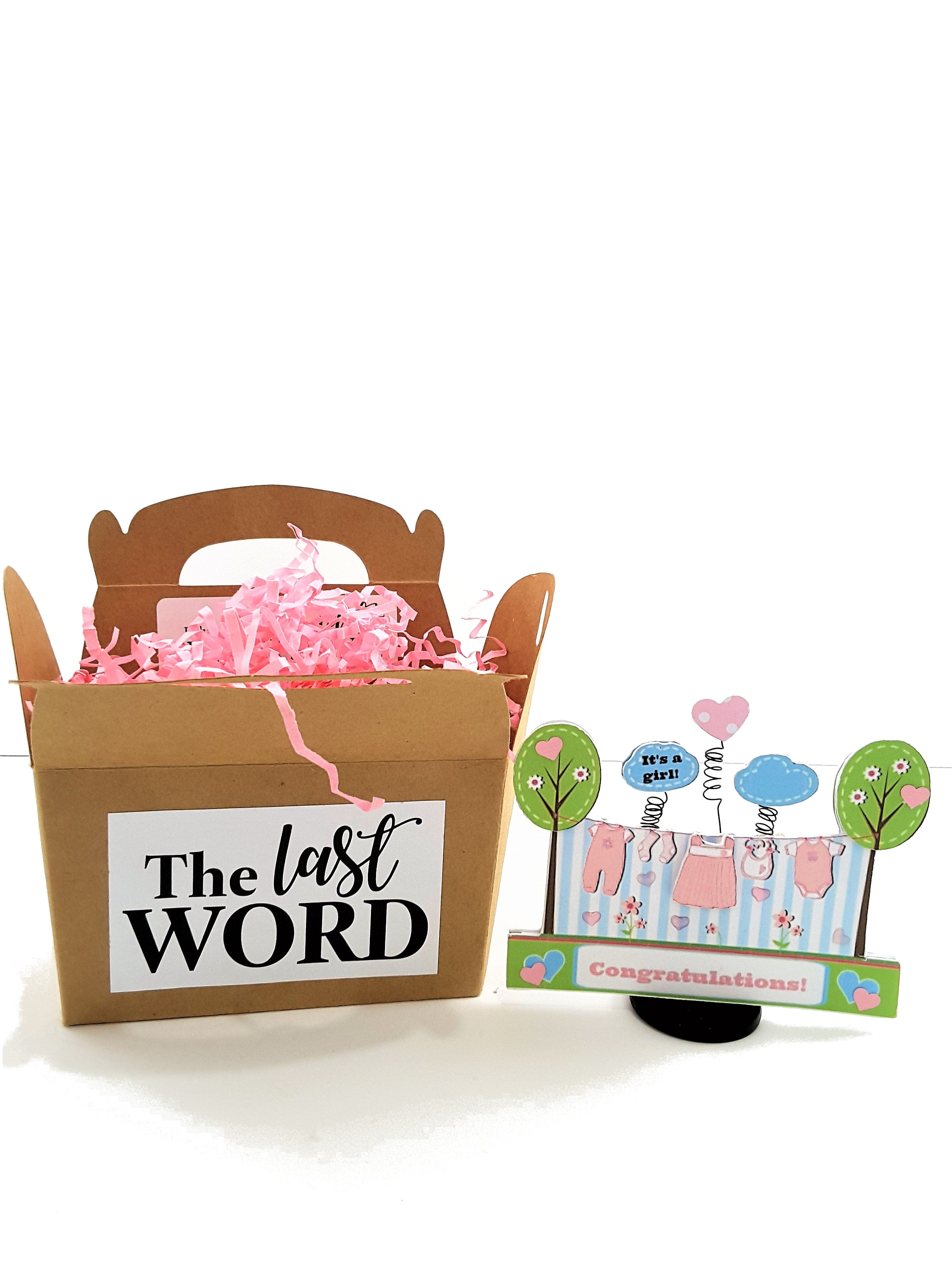 It's a Girl Personalized 3D Baby Congratulations Card - TheLastWordBish.com