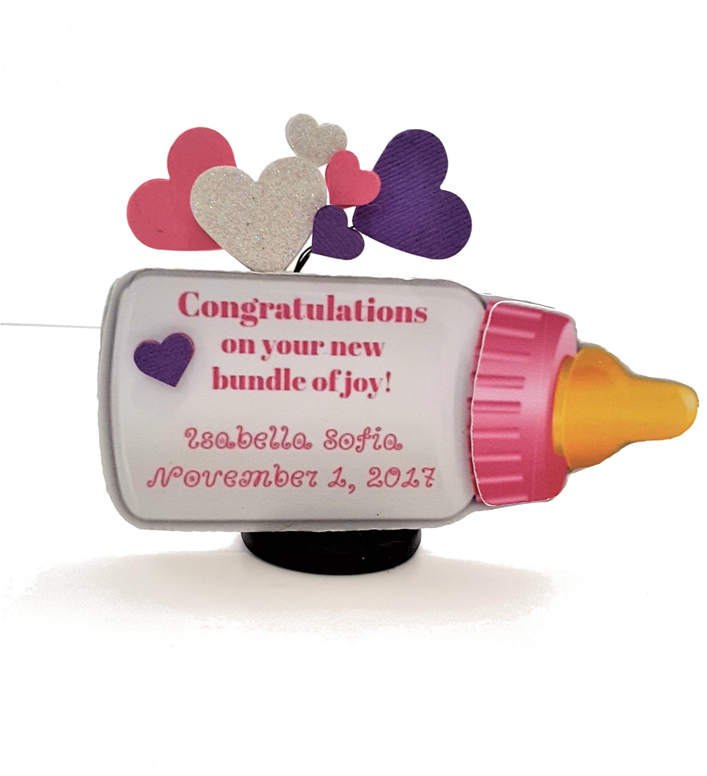Baby Announcement or Congratulations Personalized 3D Card for Boy or Girl - TheLastWordBish.com