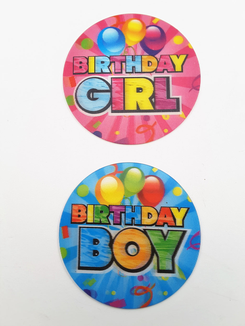 Birthday Girl or Birthday Boy Badges - TheLastWordBish.com