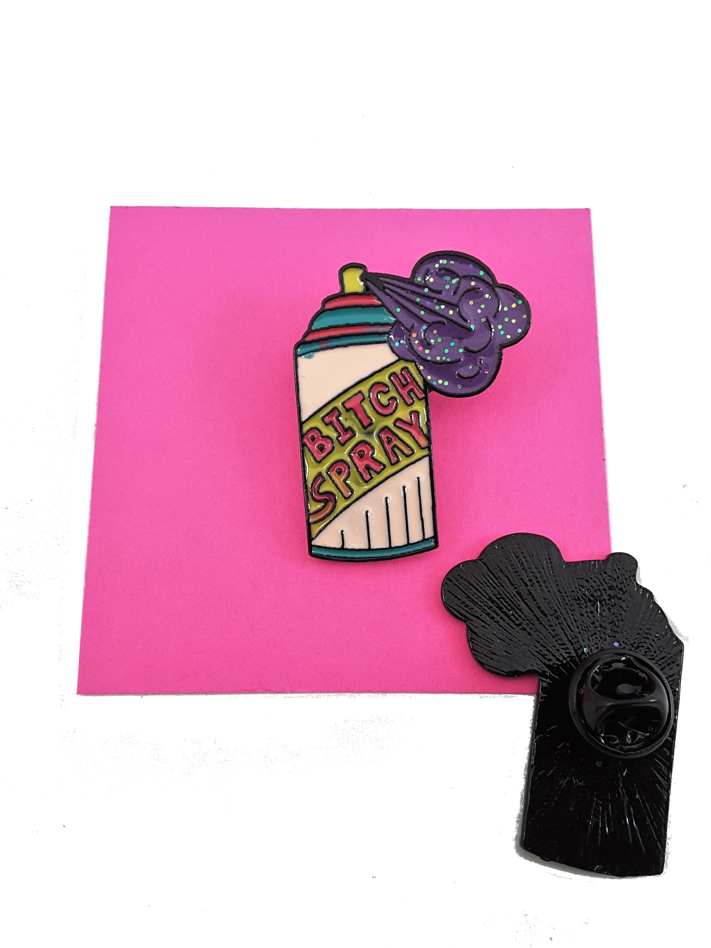 Bitch Aerosol Spray Can Enamel Pin -  Shipping included! - TheLastWordBish.com