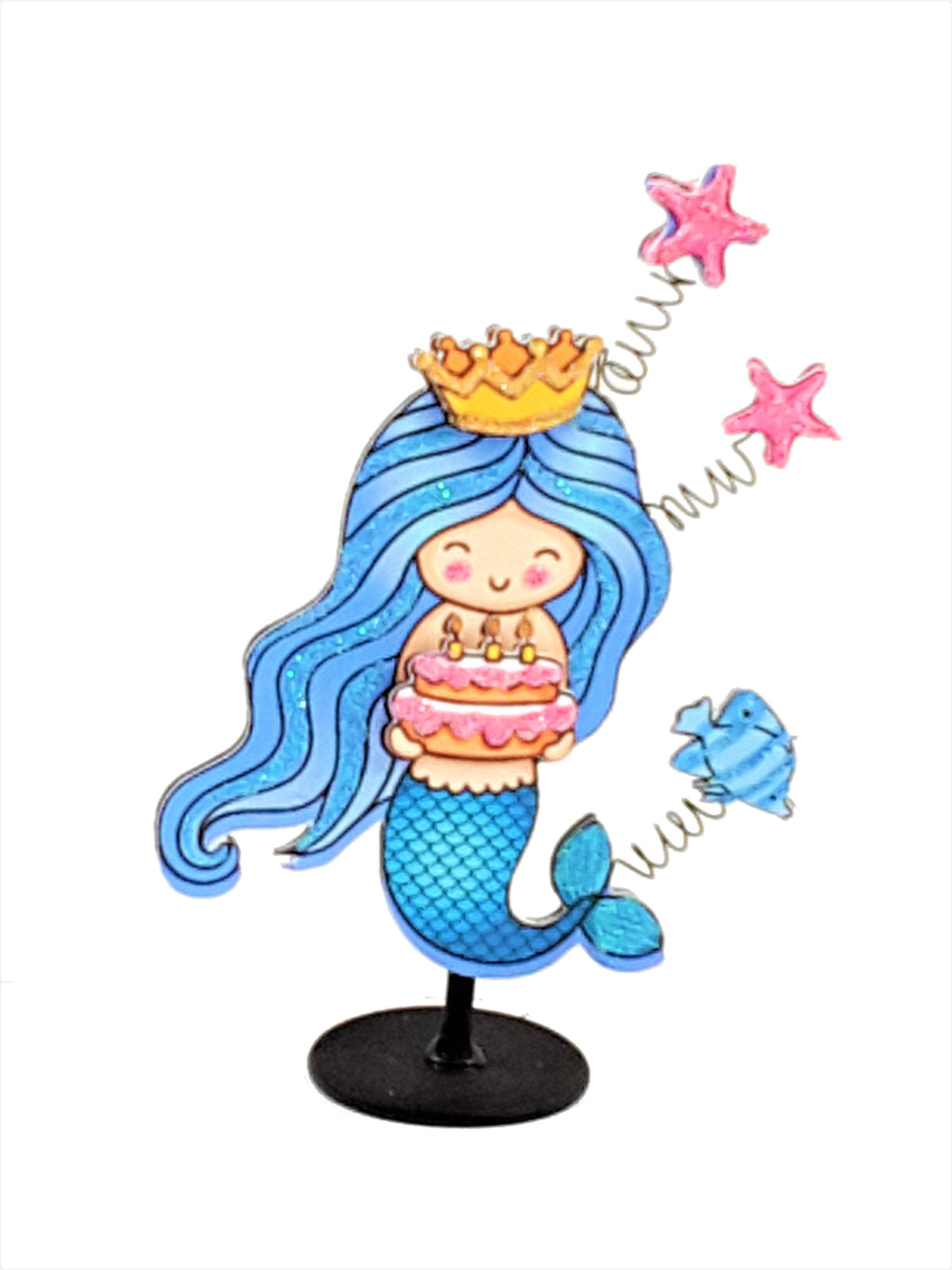 Pretty little mermaid 3D birthday card