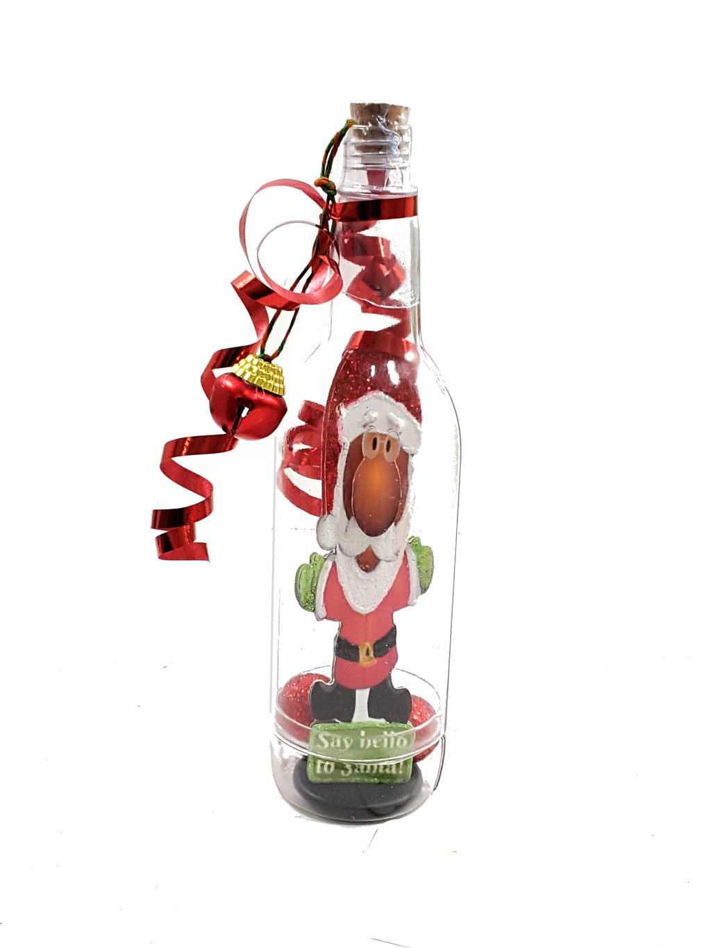 3D SANTA IN A BOTTLE CHRISTMAS GREETING CARD