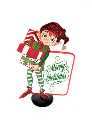 Christmas Elf Stand Up Holiday Greeting Card - TheLastWordBish.com