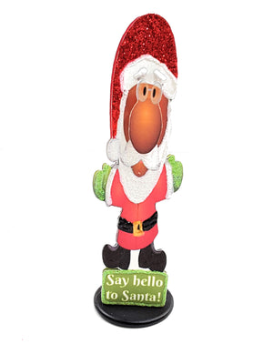 3D DARKER SKINNED SANTA GREETING CARD FOR MESSAGE IN A BOTTLE