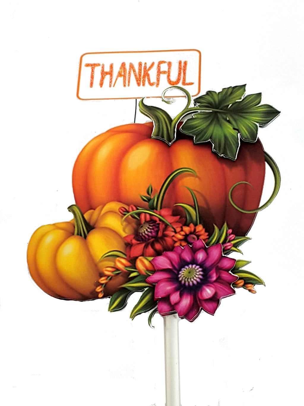 Thanksgiving or Autumn Thankful Pumpkin Cake Topper