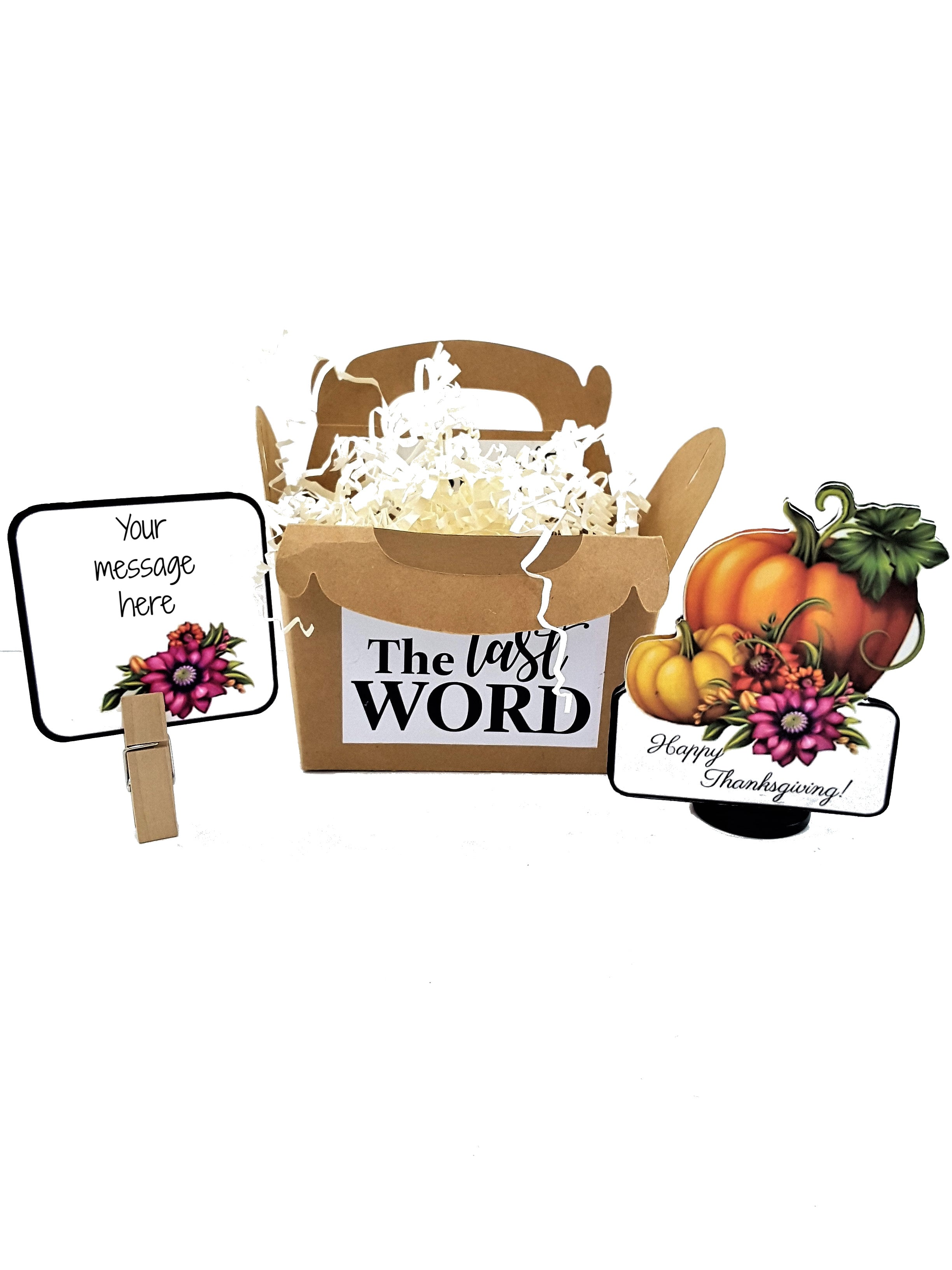 Happy Thanksgiving Pumpkin Stand Up Greeting Card Gift - TheLastWordBish.com
