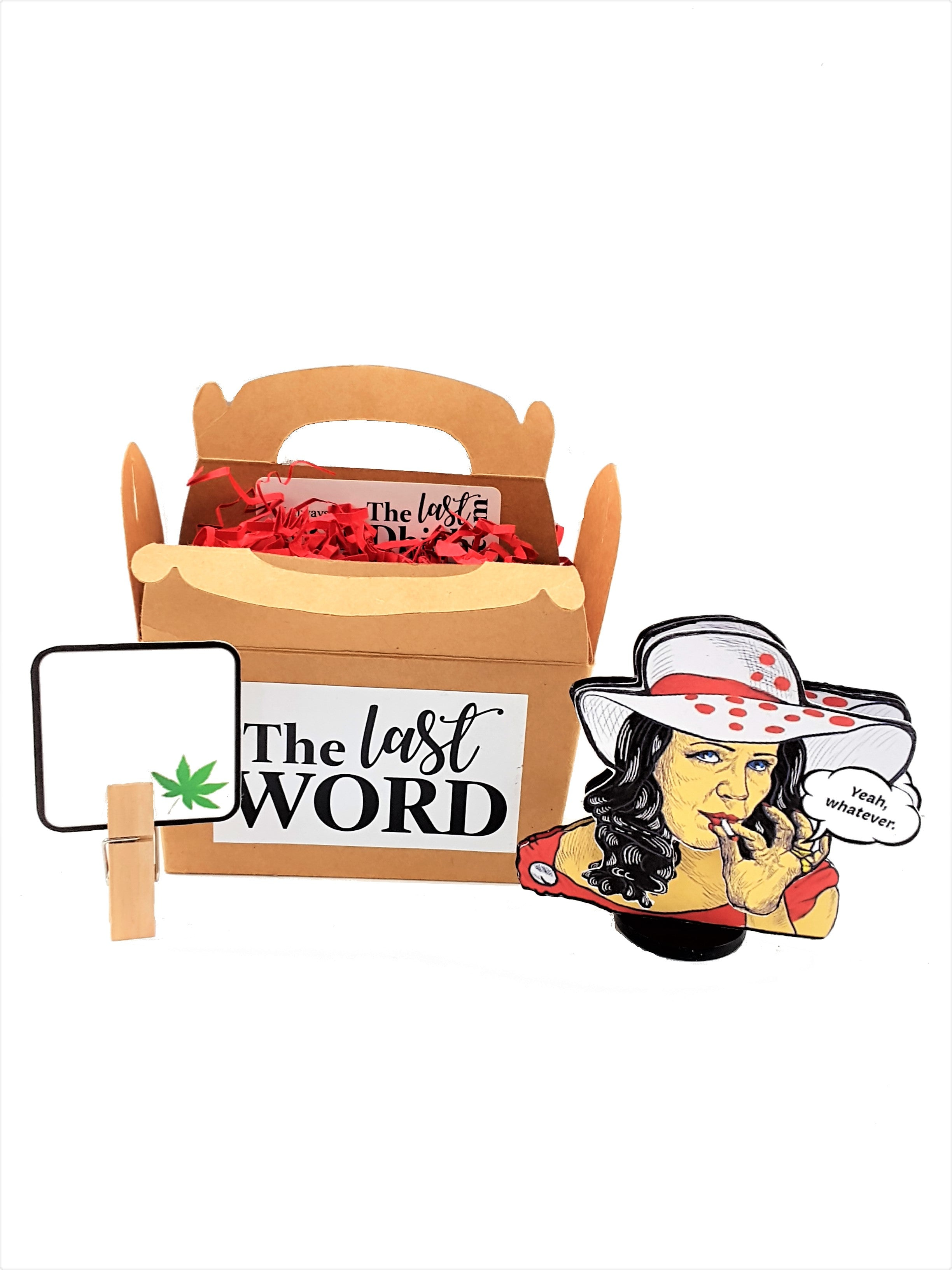 Doobie Lady with Wobble Head Personalized 3D All-Occasion Card - TheLastWordBish.com