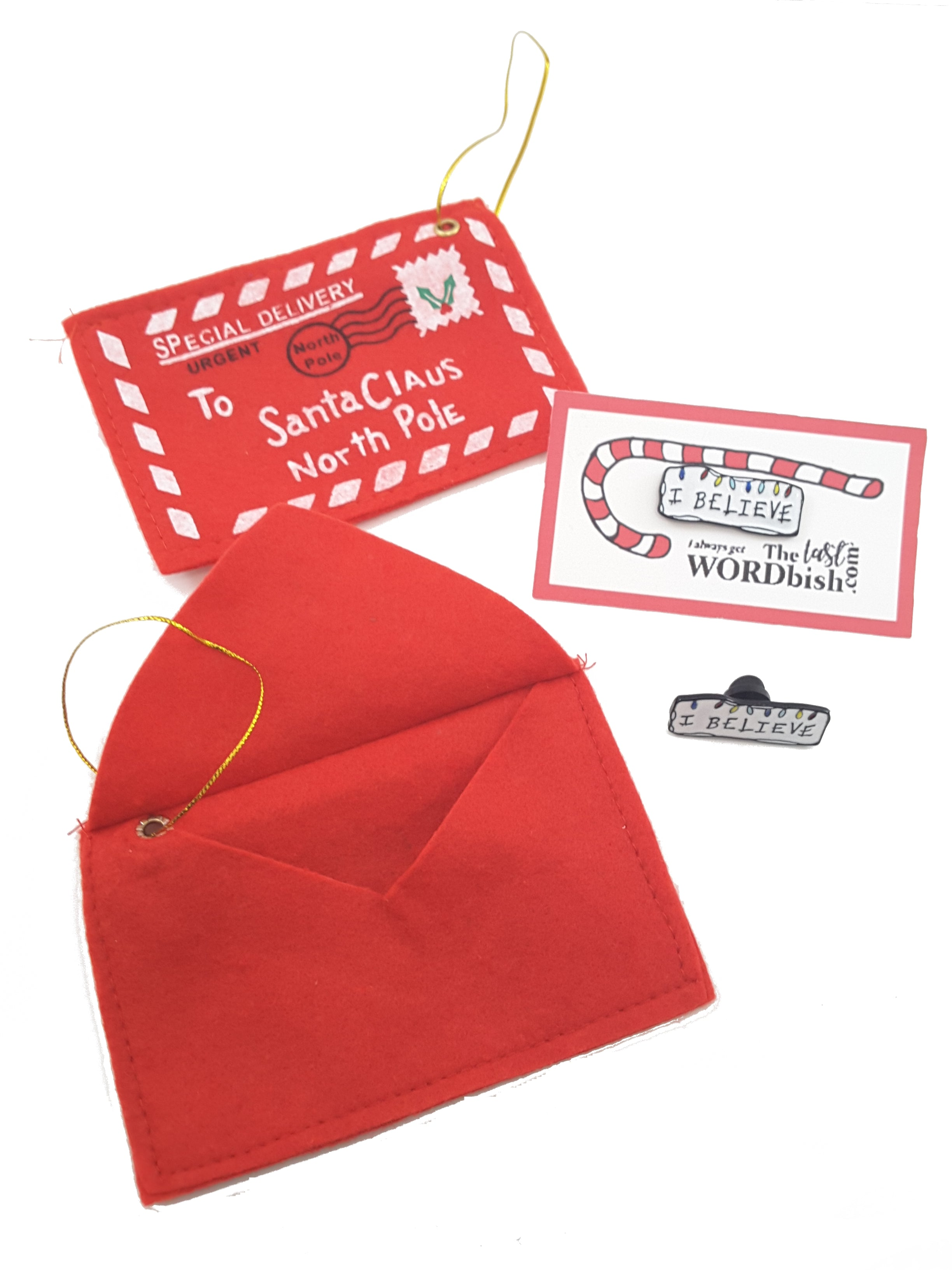 Santa Envelope Christmas Ornament - The Last Word Bish
