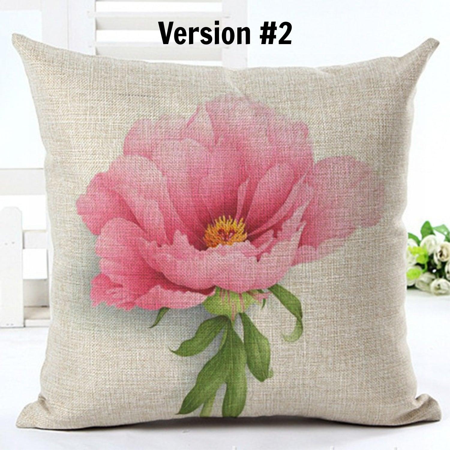 Beautiful Peony Pillow Cover