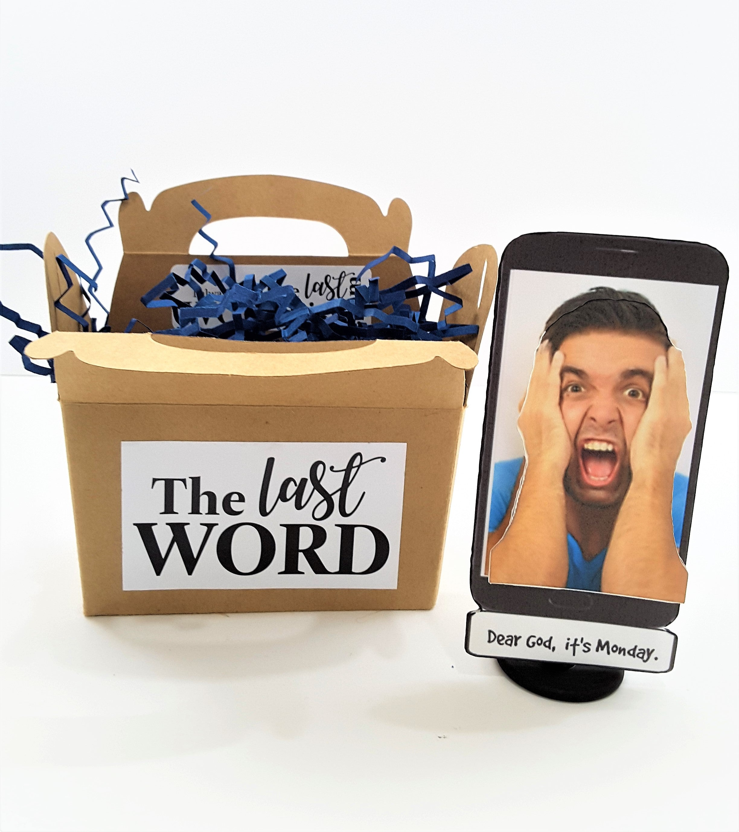 Local Man Found Trapped In His Cell Phone 3d Greeting Card Gift
