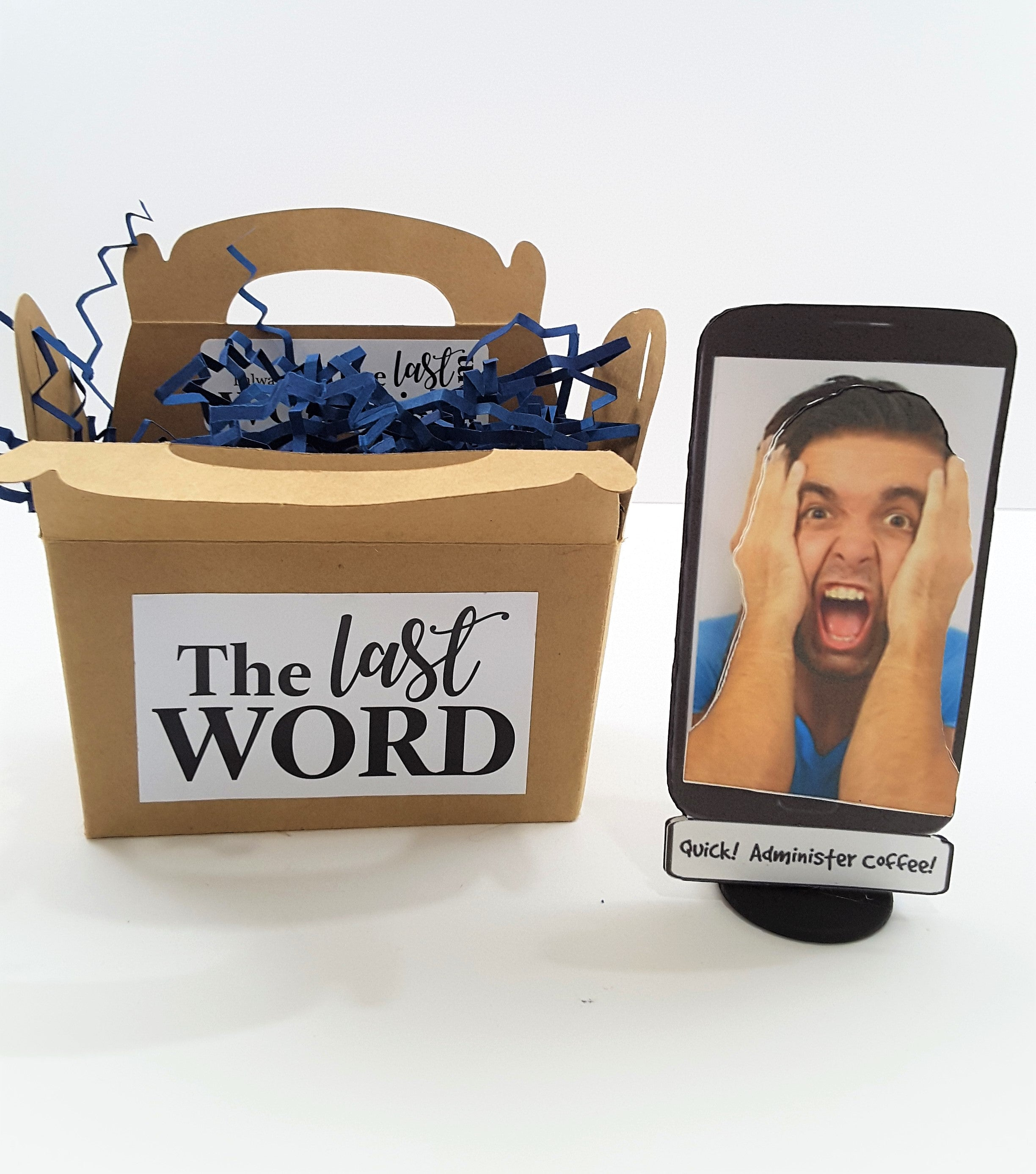 Local Man Found Trapped in a Cell Phone 3D All Occasion Card - TheLastWordBish.com