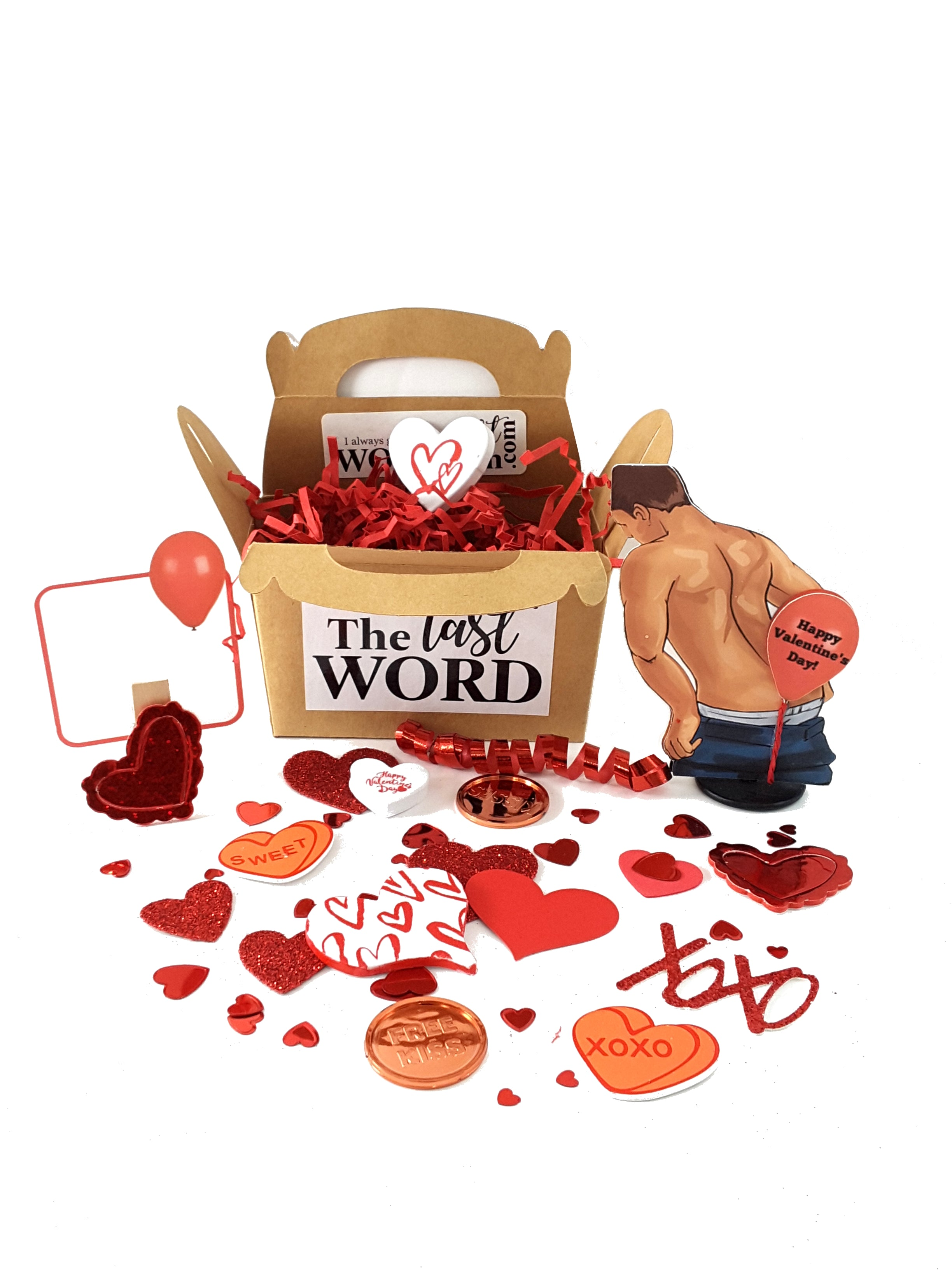Valentine's Day 3D Card with Balloon Fart Man - The Last Word Bish
