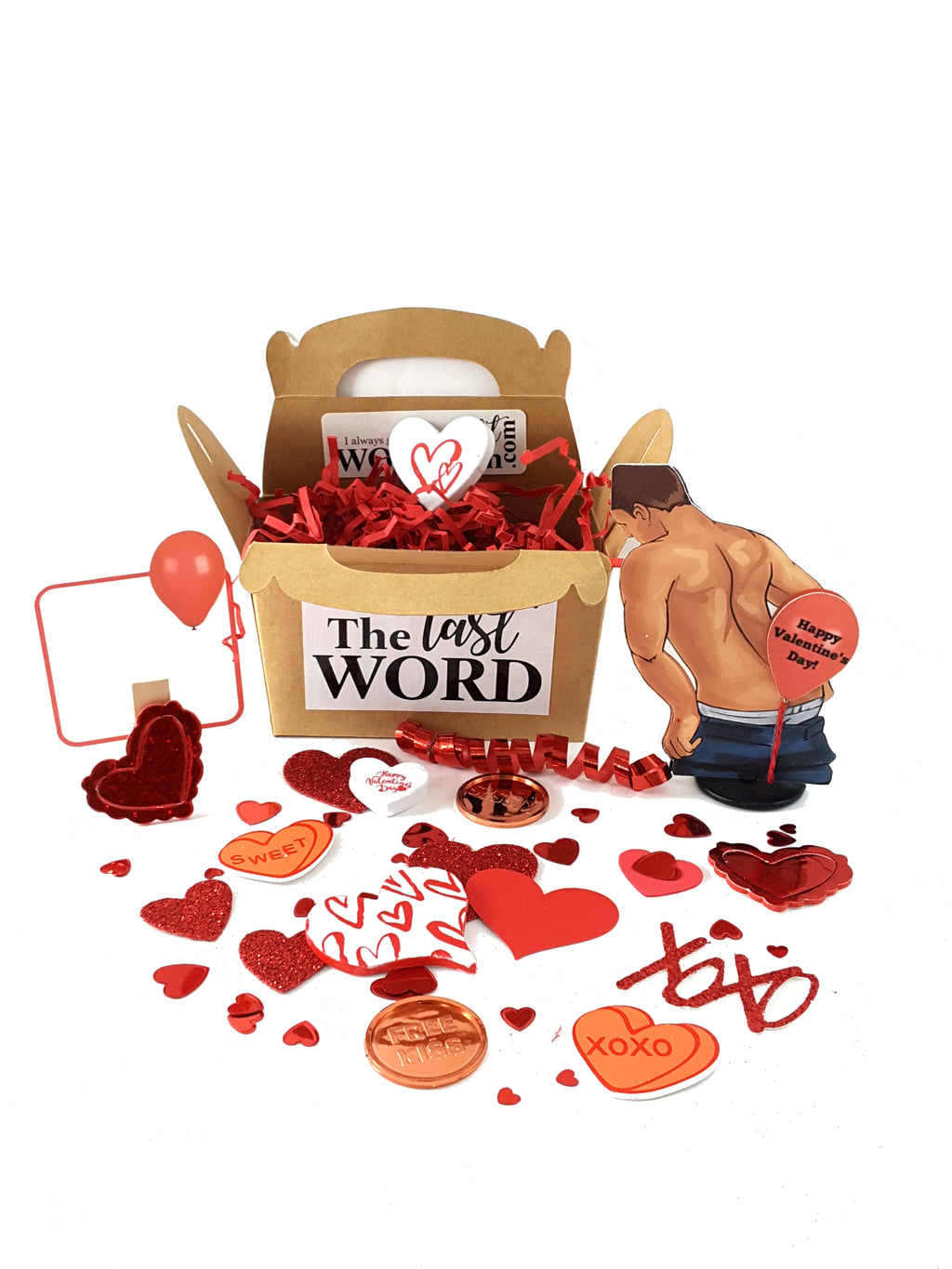 Valentine's Day 3D Card with Balloon Fart Man - TheLastWordBish.com