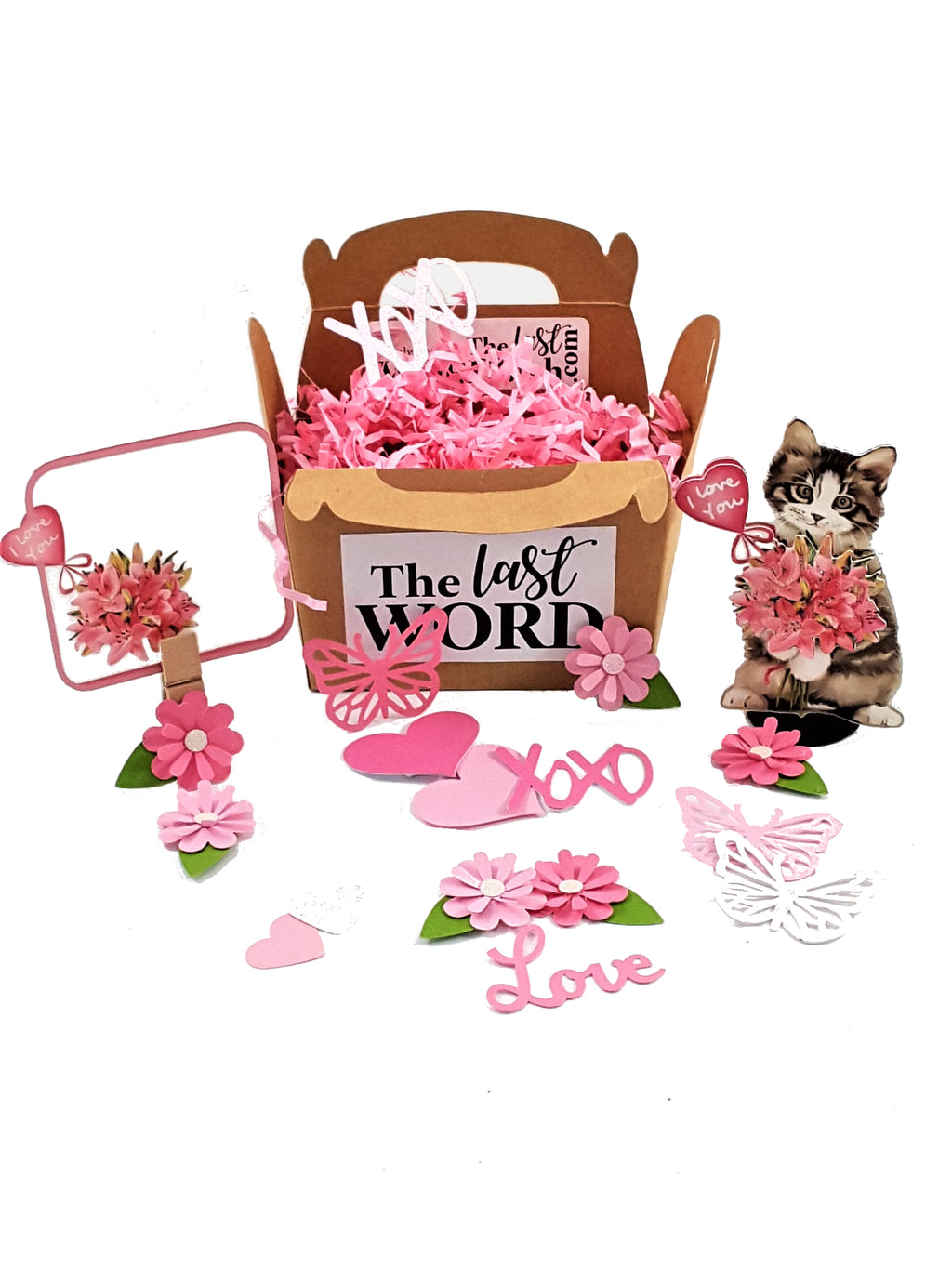 Watercolor Kitty Personalized 3D All-Occasion Card - TheLastWordBish.com