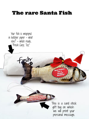 "Best Wishes with Fishes Holiday/Christmas 3D Fish ""Card"" - TheLastWordBish.com"