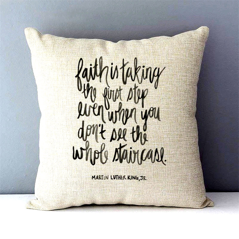 Martin Luther King, Jr. Faith Quote Pillow Cover - Free Shipping!