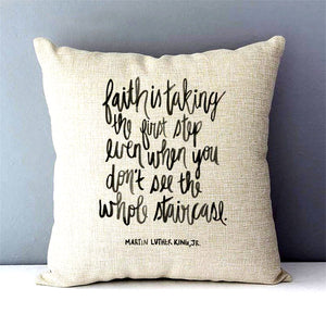 Martin Luther King, Jr. Faith Quote Pillow Cover